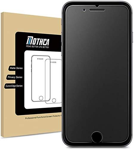 Mothca Displayschutzfolie für iPhone SE 2020, blendfrei, Anti-Fingerabdruck, 9H HD, gehärtetes Glas, glatt wie Seide