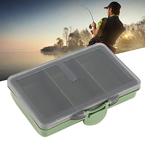 Mini Aufbewahrungsbox, Karpfen Angelgerät Box Leicht 2 Stück Angelgerät Zubehör Praktisch mit Fach für Köder(11 * 8 * 5cm-3 grids)