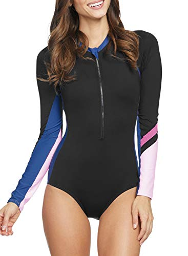 GOSOPIN Damen Badeanzug Tankini Swimsuit Sportlich Bademode Figurformend Neoprenanzug Schwimmanzug