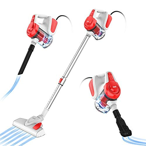 INSE Vacuum Cleaner, Corded Stick Vacuum, Handheld Vacuum, Powerful Suction 18KPa 600W, with HEPA Filter, Lightweight for Pet Hair Home Hard Floor-I6