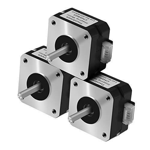 Twotrees Motor paso a paso Nema17 de 4 conductores 42 Motor Nema 17 Motor 23 mm 42BYGH 23MM 1.5A Motor para motor de impresora 3D CNC XYZ (paquete de 3)