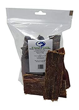 Lot de 2 friandises Food4Pets viande de bœuf déshydratée pour chien 250 g sachet refermable