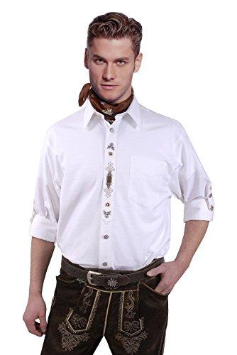 Moschen-Bayern Herren Hemd Trachtenhemd Langarm Kurzarm Wiesn Hemd Trachten Männer Oktoberfest Weiß | Bekleidung > Hemden > Trachtenhemden | Moschen-Bayern