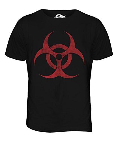 Candymix Biohazard Symbole Délavé T-Shirt Homme, Taille 2X-Large, Couleur Nero
