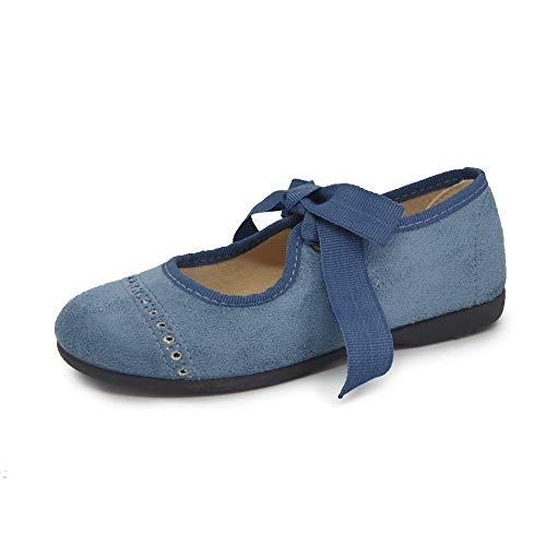 Tokolate Merceditas Shoes Merceditas - Angelito tritato per bambine, colore: blu navy, taglia Blu Size: 33 EU