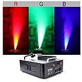 UKing 1500W Máquina de Humo con 3 RGB Luces Controlables,Maquina Niebla con Control Remoto y Tanque de 2.5L para Bodas, Fiestas, Teatro, Discoteca