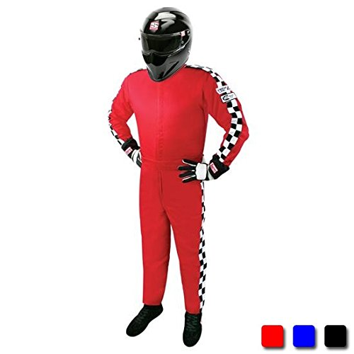 Finishline SFI-1 Qualifier 1-Piece Racing Suit, Black XXL