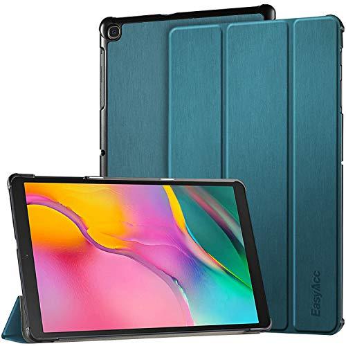 EasyAcc Hülle für Samsung Galaxy Tab A 10.1 2019 T510/ T515 - Ultra Dünn mit Standfunktion Slim PU Leder Smart Schutzhülle Passt für Samsung Galaxy Tab A T510/ T515 10.1 Zoll 2019, Pfauenblau