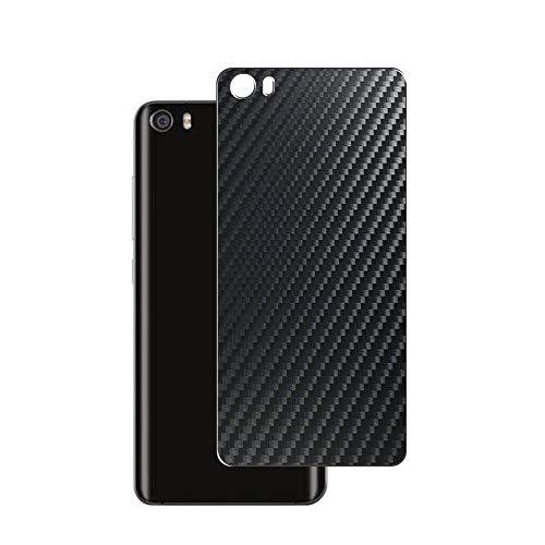 Vaxson 2 Unidades Protector de pantalla Posterior, compatible con XIAOMI MI 5 MI5, Película Protectora Espalda Skin Cover - Fibra de Carbono Negro