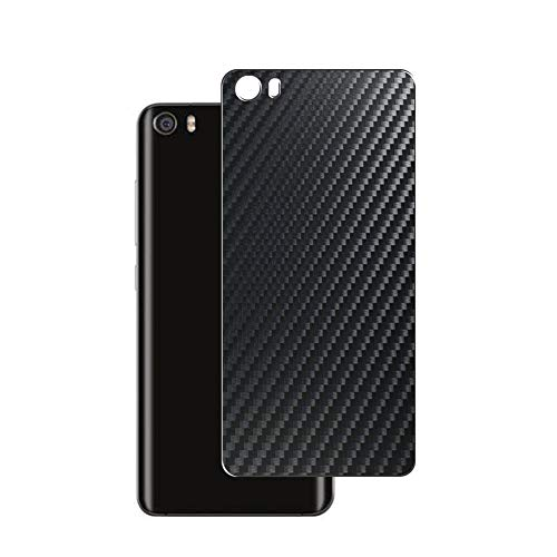 VacFun 2 Piezas Protector de pantalla Posterior, compatible con XIAOMI MI 5 MI5, Película de Trasera de Fibra de carbono negra