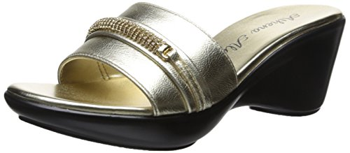 Athena Alexander Women's Maiden Wedge Sandal, Gold, 6 M US