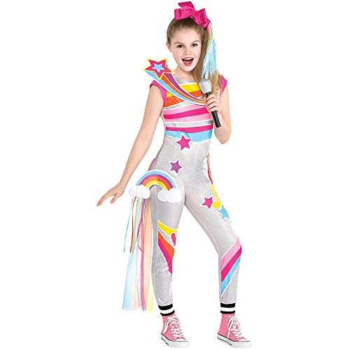 Party City D.R.E.A.M. Tour JoJo Siwa Costume for Children, Size Medium, Includes Jumpsuit, Hair Bow, Train, and Patches