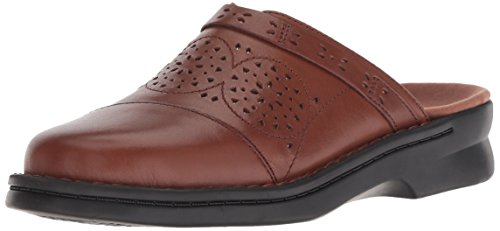 Clarks Damen Patty Renata Clog, Dark Tan Leather, 35.5 EU