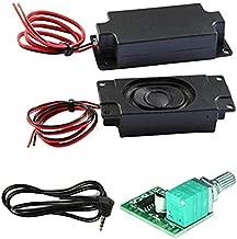 Degraw DIY Speaker Kit - PAM8403 5V Amplifier + 2Pcs 4 ohm, 3 watt Speakers - Mini Class D Digital Audio Amplifier amp Board Module kit for Arduino, Includes 3.5mm Plug!