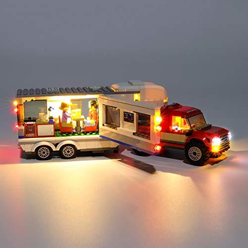 HLEZ Conjunto de Luces para Caravana de Recogida en La Ciudad Modelo de Construcción de Bloques, USB Juego de Luces Compatible con Lego 60182 (Modelo Lego no Incluido)