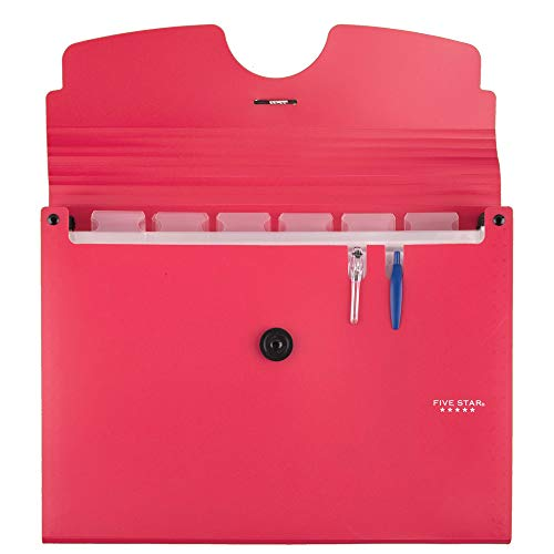Five Star Expanding File Folder, 13-Pocket Expandable File Folder, Red (38145) Photo #2