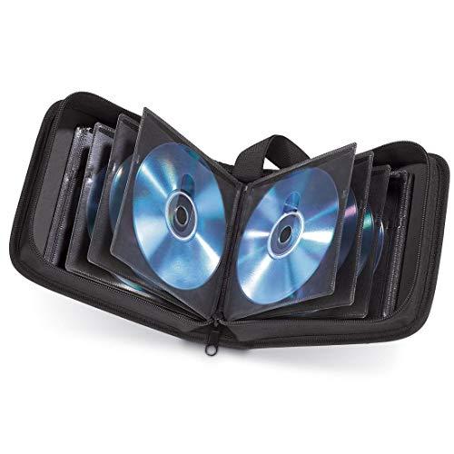 Hama CD Tasche für 20 Discs / CD / DVD / Blu-ray (Mappe zur Aufbewahrung , platzsparend für Auto & Zuhause, Transport-Hüllen) Schwarz