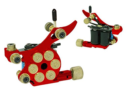 Afterlife Custom Irons Pistol Bullet Style Tattoo Shader Machine - Red