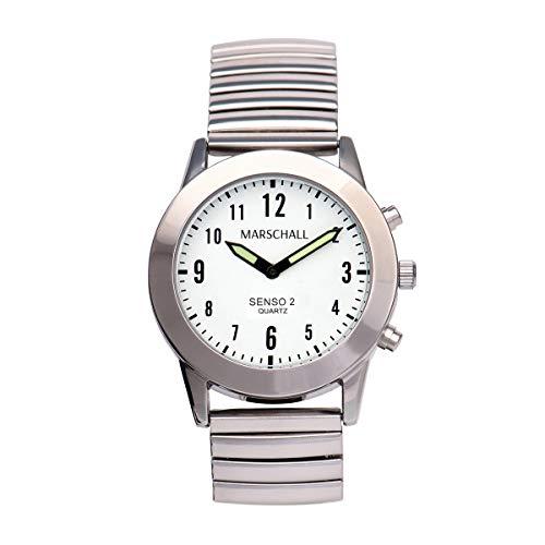 Sprechende Damen-Armbanduhr mit Touch-Funktion MV Metallzugarmband Senso