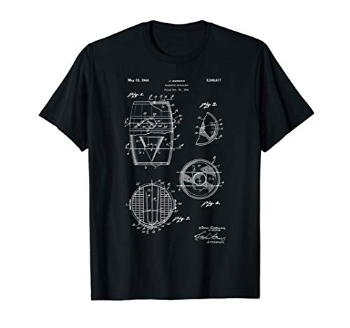 Vintage Patent Print 1944 Original Barrel Smoker Grill UDS T-Shirt