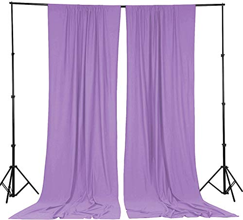 XINGMAO 9 FT x 10 FT Shiny Polyester Photography Backdrop Drapes Curtains Panels - Wedding Decorations Home Party Reception Supplies (Lavender Purple)