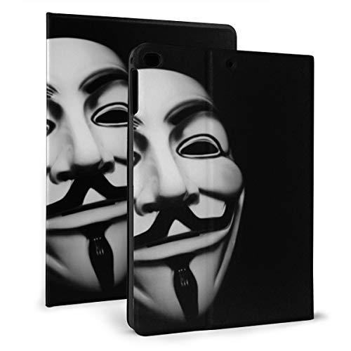 Anonieme Maskers Hackers V Voor Vendetta Zwart Hoesje Compatibel met 2018 iPad mini 2017 iPad air1 - Zeer Beschermend Maar Dun + Handige Magnetische Stand + Slaap/Wakker Cover, iPad mini4/5 7.9, Zwart