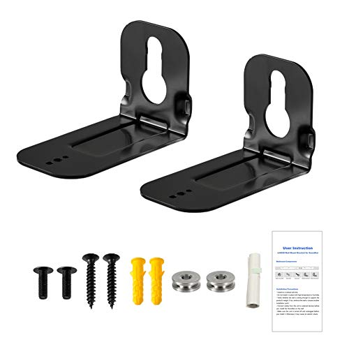 Wall Fixing Bracket Kit for Samsung Soundbar N950 MS750 MS751 HW-MS650 HWMS650, Sound Bar Black Wall Mount Bracket with Accessories