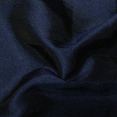 STOFFKONTOR Kleidertaft Dekotaft TAFT Stoff Meterware Nacht-Blau changierend