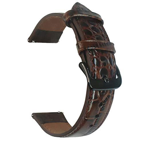 KingbeefLIU Correa De Reloj Correa De Reloj De Cuero De Repuesto De 22 Mm para Samsung para Huawei Watch2 Marron Oscuro