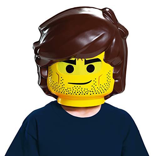 LEGO Ninjago Movie 26784-15L - Máscara de Lego Movie 2 Rex Dangervest (Talla única), Color Amarillo