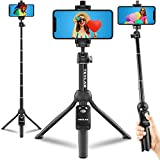 Texlar Selfie Stick Tripod 48' with Remote for iPhone 13, 12, 11, XR, X, 8, 7, Pro, Max, Plus, SE, Android Phone, Smartphone - TS48 Pro Small Mini Cellphone Stand