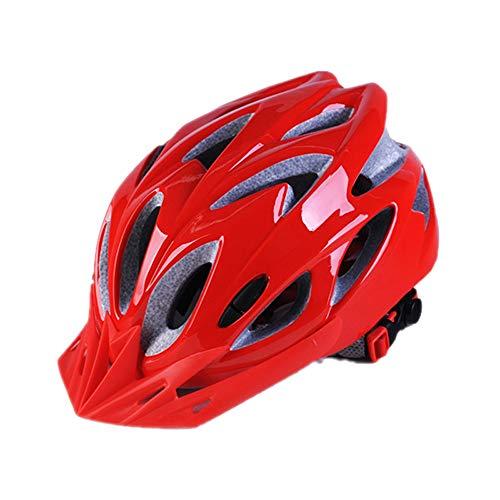 CHENGGUOFENG Casco de Bicicleta for Hombres Mujeres Casco Ajustable Ligero Deportes al Aire Libre Cascos de Ciclismo de Bicicleta de montaña (Color : 01Red, Size : Gratis)