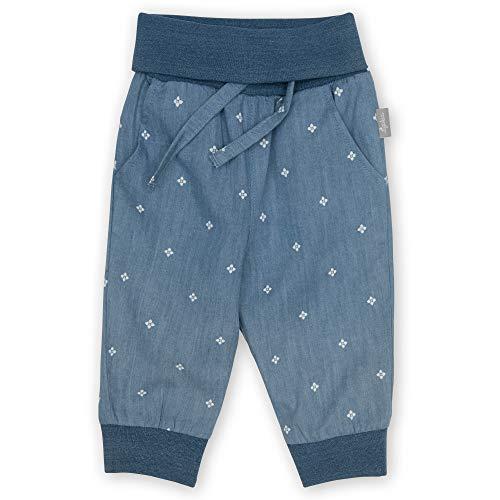 Sigikid Baby-Mädchen Hose aus Bio-Baumwolle für Kinder, Hellblau/Chambray, 92