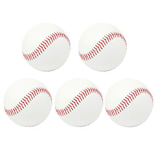 LIOOBO 5-teiliger Trainingsball für Baseballtraining der Ball für das Training von Wettkampfübungen spielt