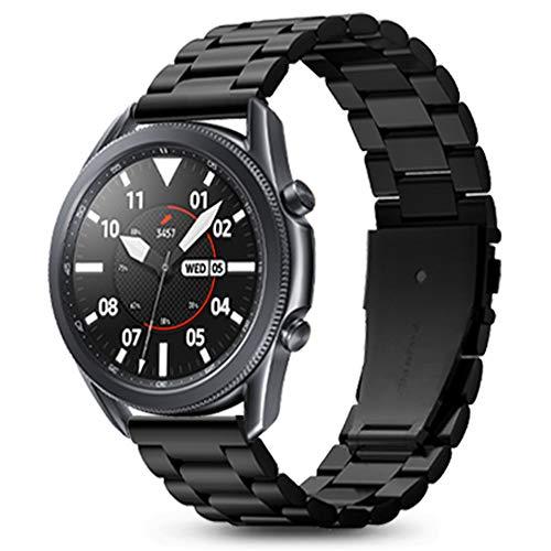 Spigen Modern Fit Compatible con Samsung Galaxy Watch 3 45mm Cinturino (2020) / Galaxy Watch 46mm Cinturino (2018) / Gear S3 Frontier Cinturino / S3 Classic Cinturino - Nero
