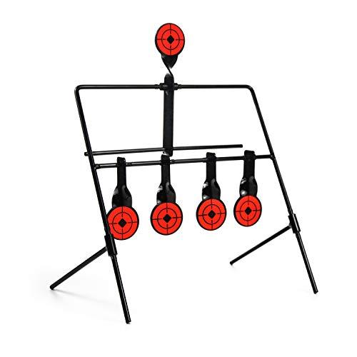 GUGULUZA Zurücksetzen Ziel Shooting Target Zielscheibe Metall Ziel für Air Gun Luftgewehr Gewehr Training (Target-A1)