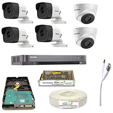 HIKVISION Wired FHD 5MP Security Camera Kit, White