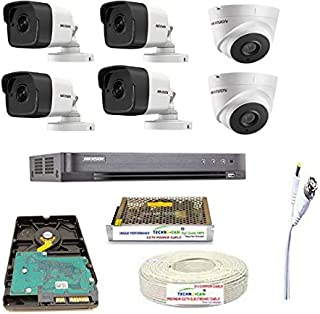 HIKVISION Full HD 5MP Cameras Combo KIT 8CH HD DVR+ 4 Bullet Cameras + 2 Dome Cameras+1TB Hard DISC+ Wire ROLL +Supply & A...
