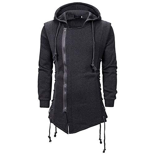 CFWL Chaqueta Suelta con Capucha Oscura Assassin'S Creed Sweater para Hombre De Moda para Hombre Verano 3D Estampada Hawaii Lavado Y con Corte Holgado para Hombre, DiseñO Tropical Gris XL