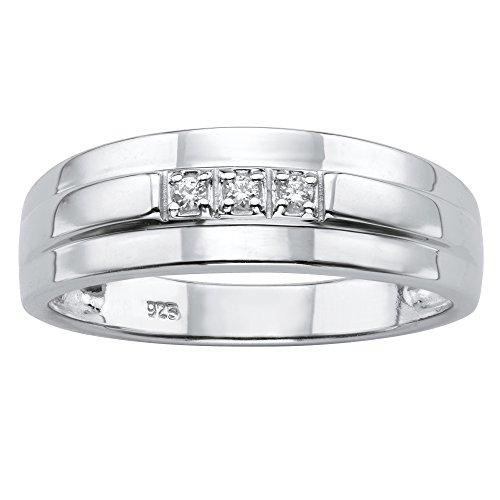 platinum and diamond wedding band - 4
