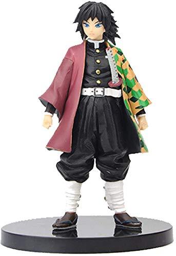 6.3Inch Demon Slayer Figure Kimetsu No Yaiba Action Figures Cool Anime Figurines Model Nezuko Tanjiro Zenitsu Shinobu Giyuu Figure Toy Gift for Collection Figurine Doll Toys Gifts (Tomioka Giyuu)