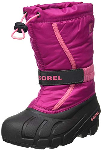 Sorel Youth Flurry Boot for Rain and Snow - Waterproof - Deep Blush - Size 4