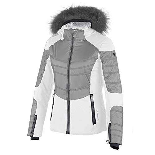 CMP Skijacke Snowboardjacke Woman SKI Jacket Stretch Zip Hood Weiss (42)