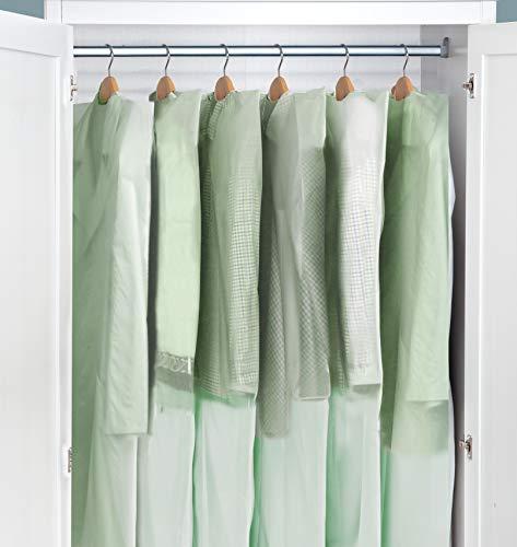 WENKO Motten-Schutzhüllen in Aromaschutzbox - 15er Set, Kunststoff, transparent, Polyethylen, 65 x 150 cm, Grün