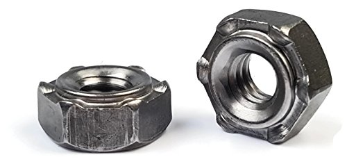 Hex Weld Nuts Steel Short Pilot 6 Projections - UNC Coarse Sizes - QTY 250 (1/4