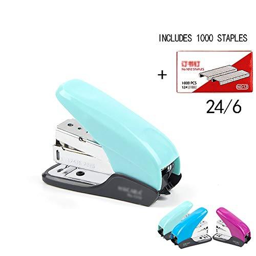 Opslag Effort Mini nietmachine, single vinger pers en wordt geleverd met 1000 nietjes, antislip rubberen onderkant, gemakkelijk te dragen AAA-nietjes groen