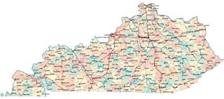 Best kentucky state map with counties Reviews
