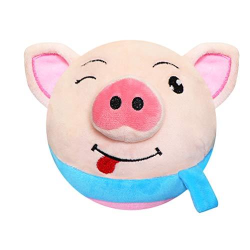Toyvian El Juguete Que Habla Repite Lo Que Dices Juguete de Peluche de Felpa Peluche Cantando Y Hablando Cerdo Figura Juguete Electrónico para Niños Niños Pequeños