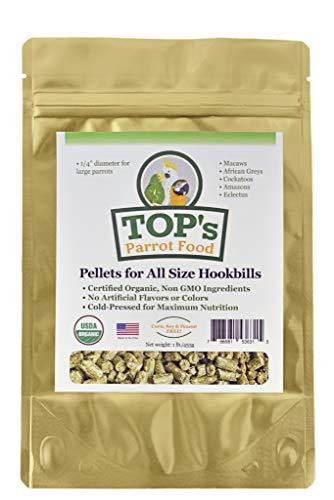 TOP's Parrot Food Pellets Hookbills, Small,...