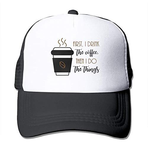 NA eerst drink ik de koffie dan doe ik de dingen zonnebrandcrème mesh honkbalpet